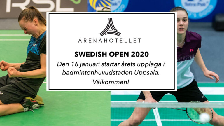 Swedish Open event i badminton i uppsala